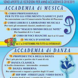 Iscrizioni Accademia di Musica e Danza 2018-2019