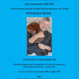 Master Class di Viola – M°Danilo Rossi