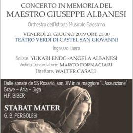 Concerto in memoria del Maestro Giuseppe Albanesi
