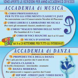 Iscrizioni Accademia di Musica e Danza 2019-2020