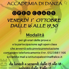 CALENDARIO OPEN CLASS ACCADEMIA DI DANZA
